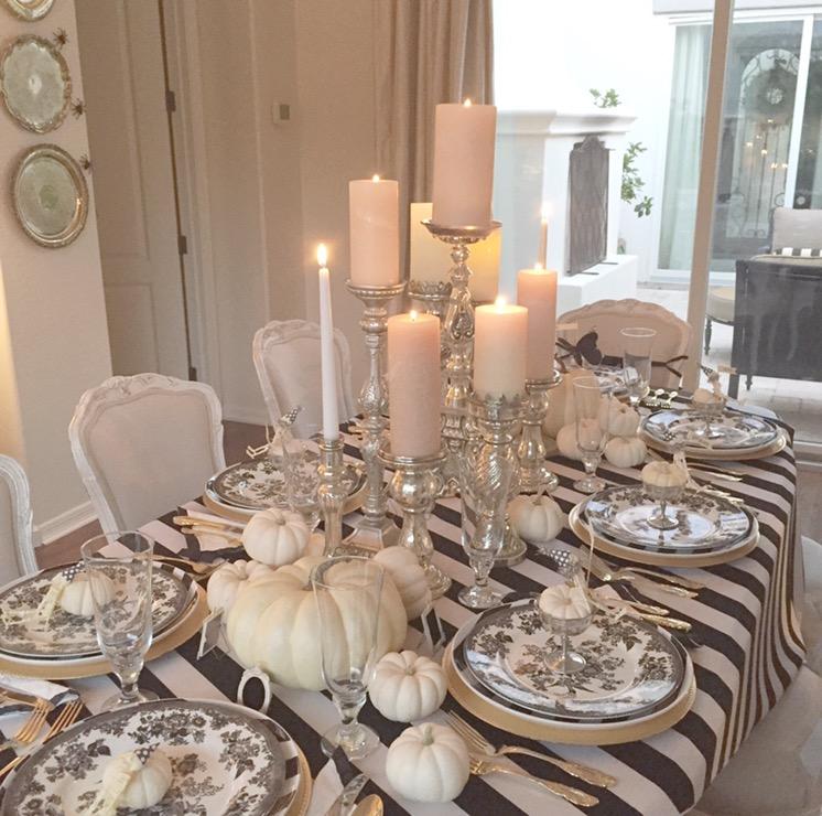 How To Set An Elegant Halloween Table Randi Garrett Design