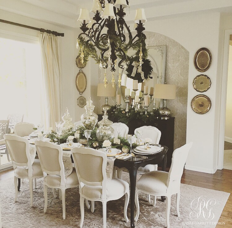 Elegant Christmas dining room