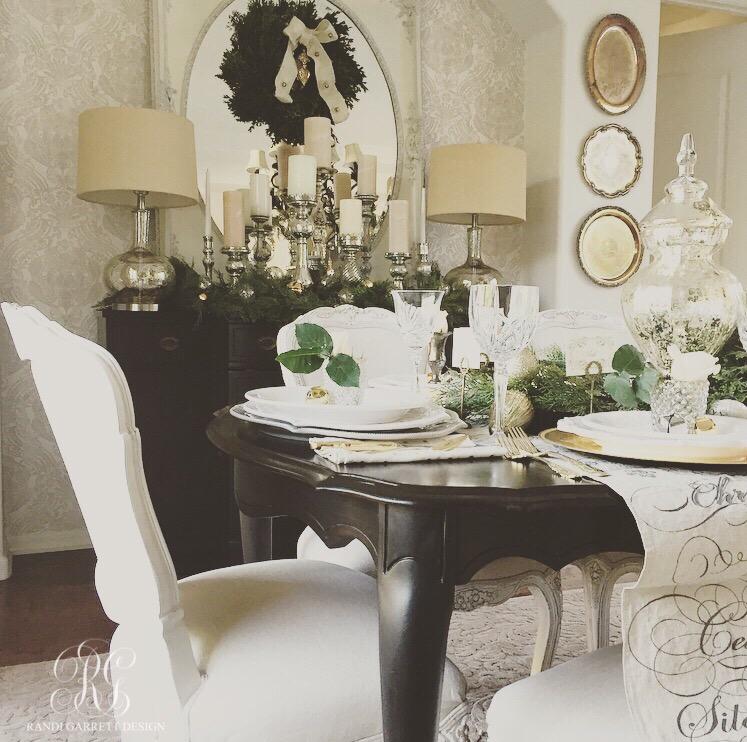 Randi Garrett Design elegant Christmas dining room