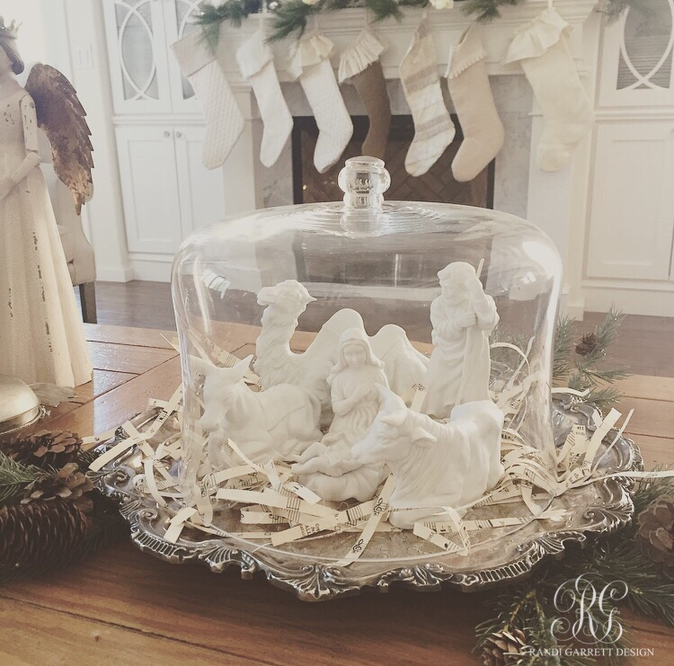 White nativity with cloche