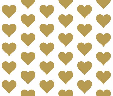 Gold Jumbo Heart Fabric from Randi Garrett Design