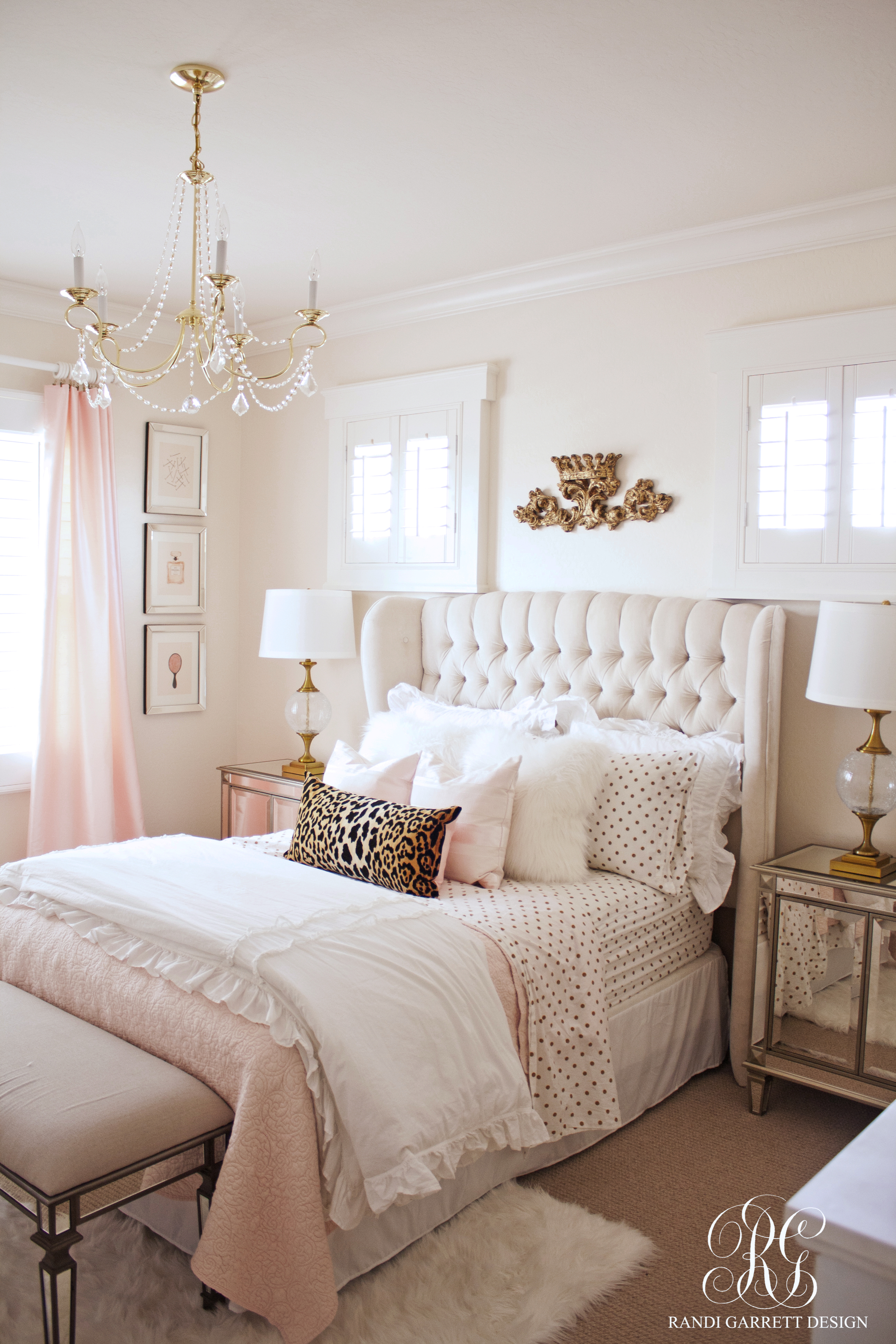 pink bedroom ideas pink and gold girl s bedroom makeover randi garrett design 7169