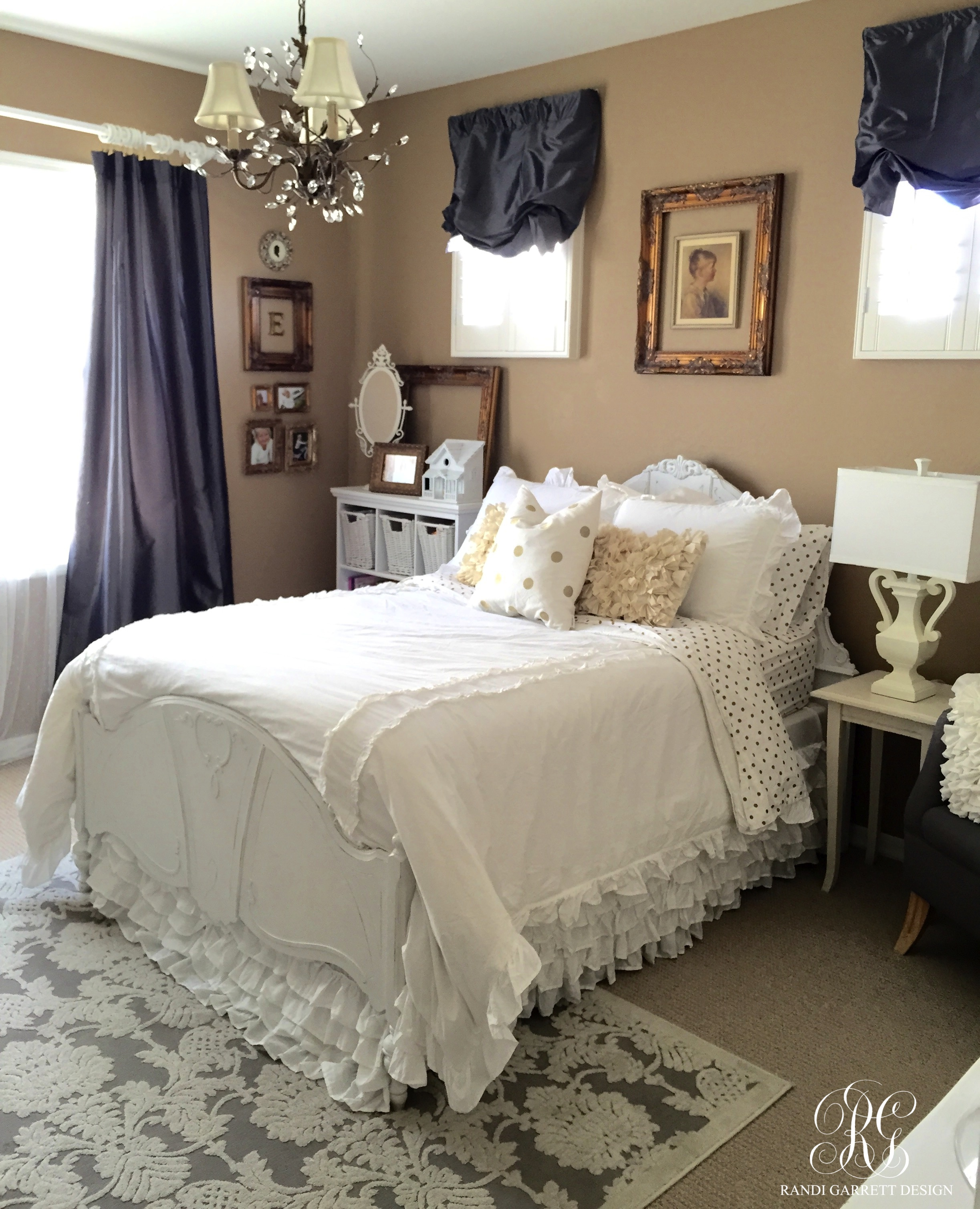 Gold and Grey Bedroom