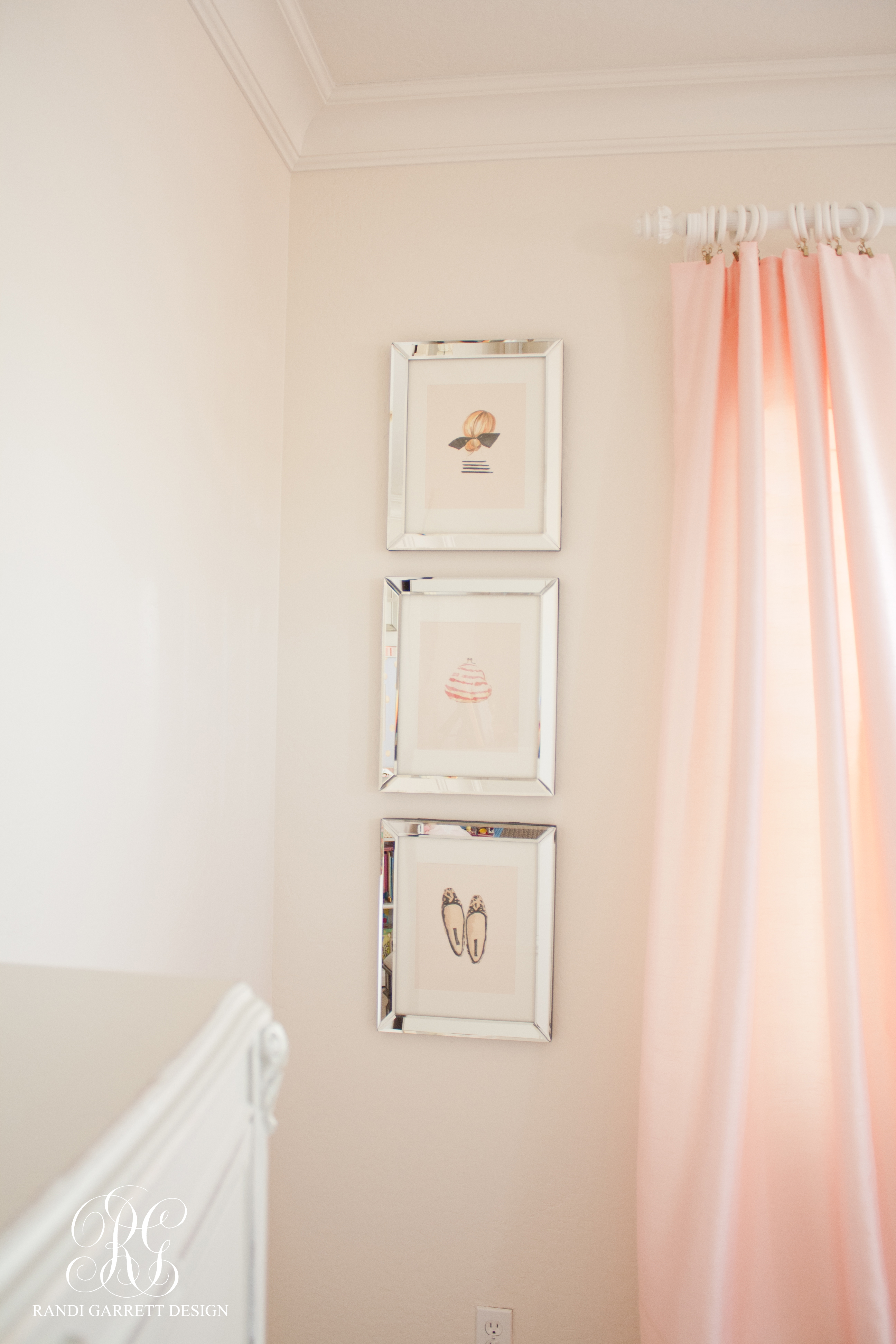 Pink silk drapes by Randi Garrett Design