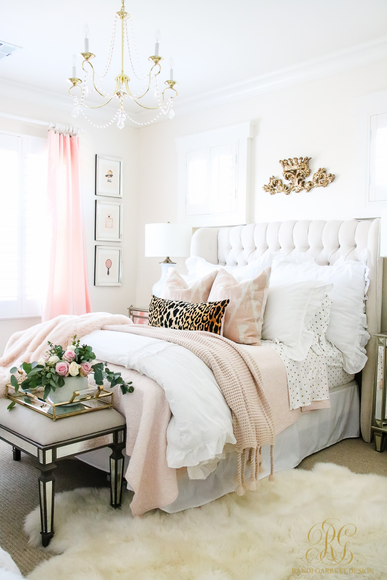 Pink And Gold Girl 39 S Bedroom Makeover Randi Garrett Design