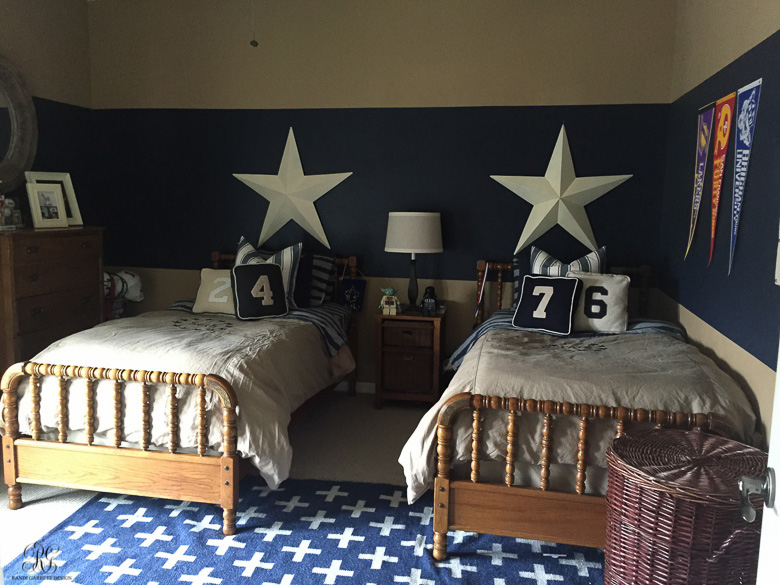 Teen Boy Bedroom Featuring Pure & Original Paint