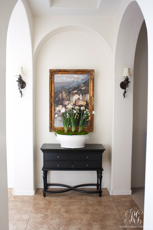 Spring paper whites arrangement by Randi Garrett Design