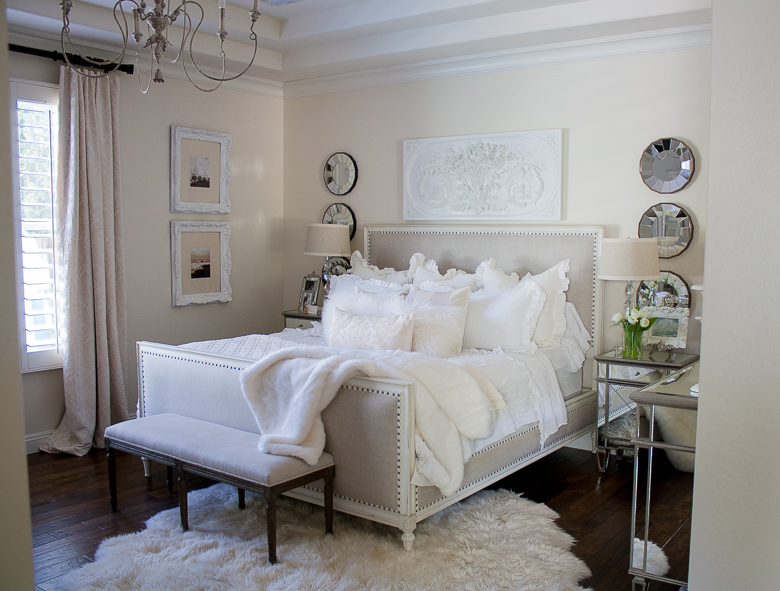 Randi Garrett Design Glam White Master Bedroom