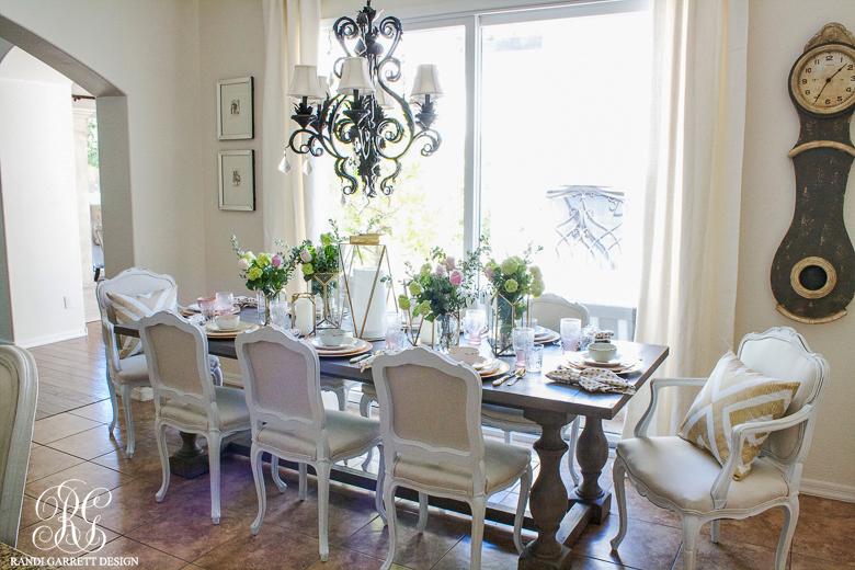 Pink and Gold tablescape by Randi Garrett Design