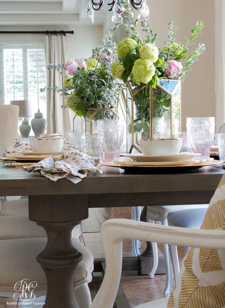 Mother's Day tablescape by Randi Garrett Design