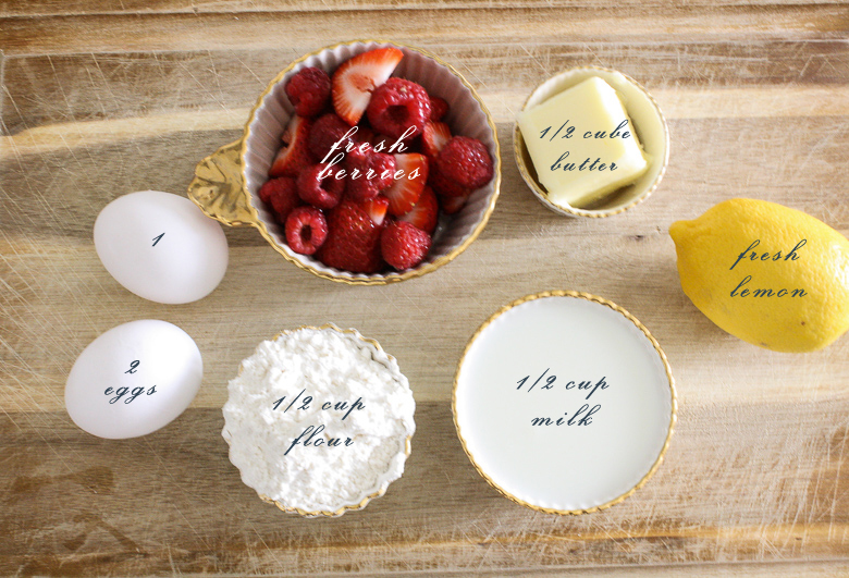 Sunday Family Pancake Ingredients by Randi Garrett Design