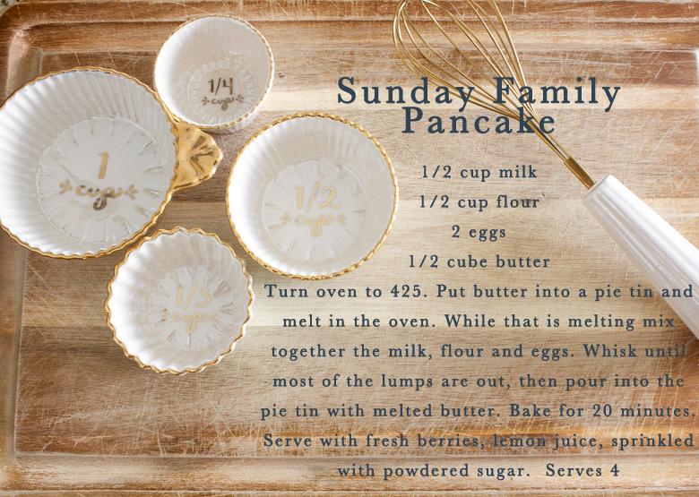 Sunday Family Pancake Recipe by Randi Garrett Design
