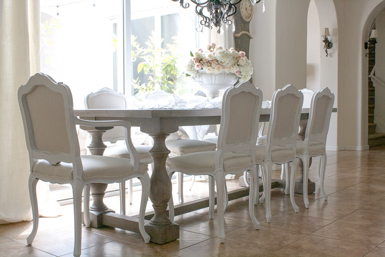 White Chairs with Pure and Original Paint by Randi Garrett Design