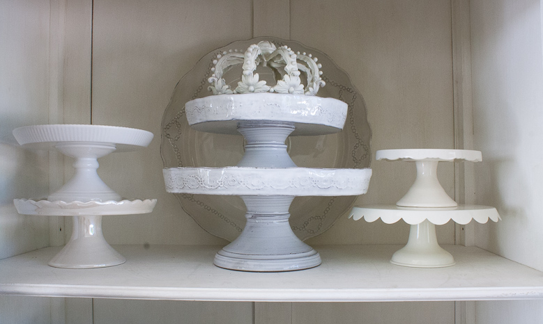 Elegant Cake Plate Collection, How To Style Your China Cabinet