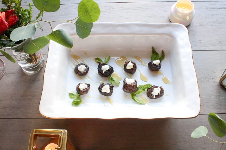 Stuffed fig elegant appetizer