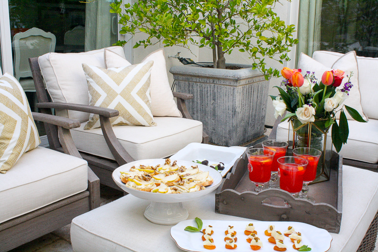Outdoor summer dinner party