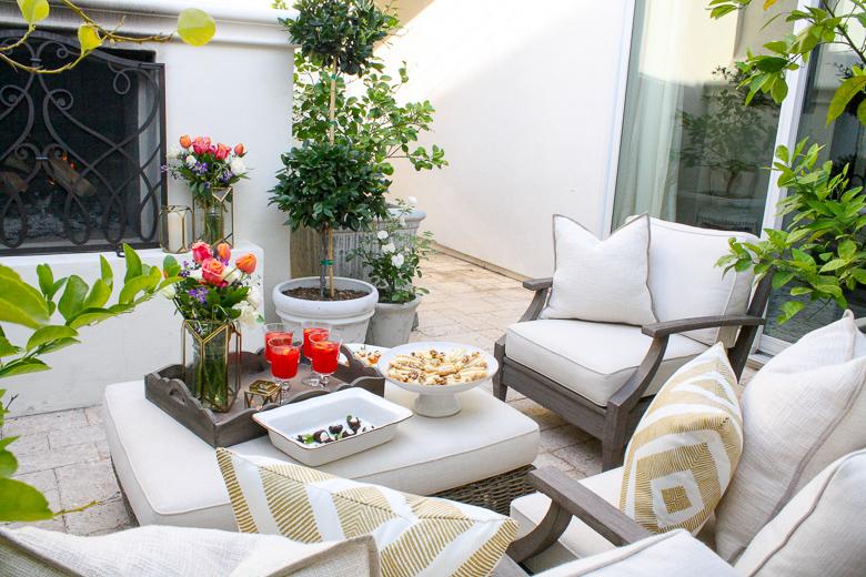 Elegant outdoor dinner party by Randi Garrett Design