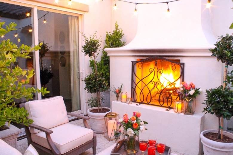 Elegant outdoor dinner by Randi Garrett Design