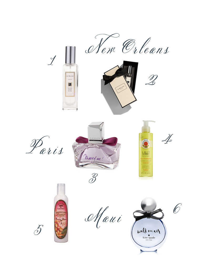 Perfumes from around the world, summer trip tips by Randi Garrett Design