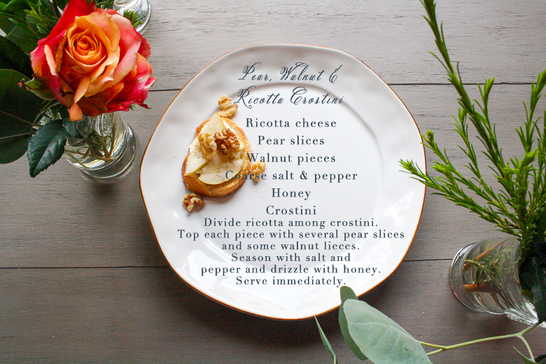 Pear Crostini Recipe
