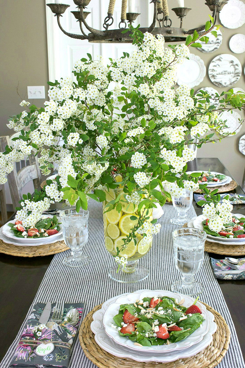 Spring tablescape - Driven by Decor
