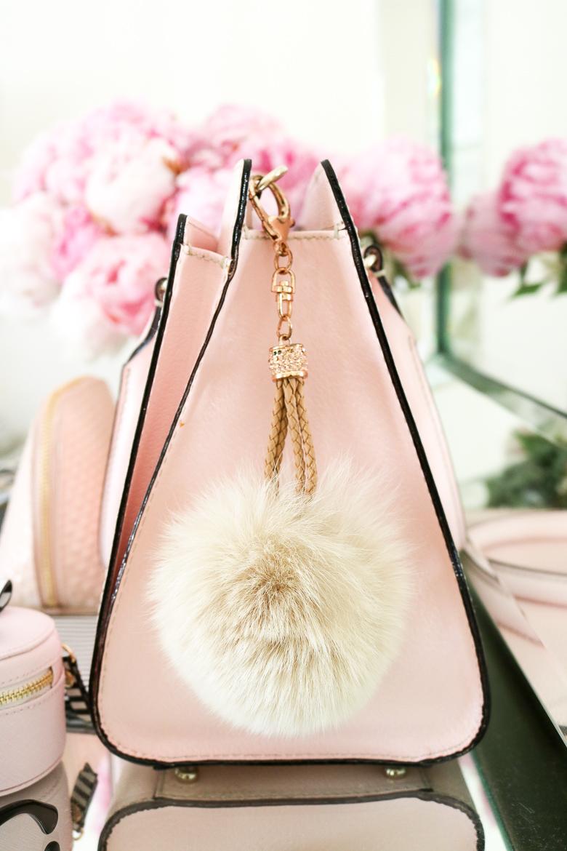 Fur purse pouf, dress up your purse