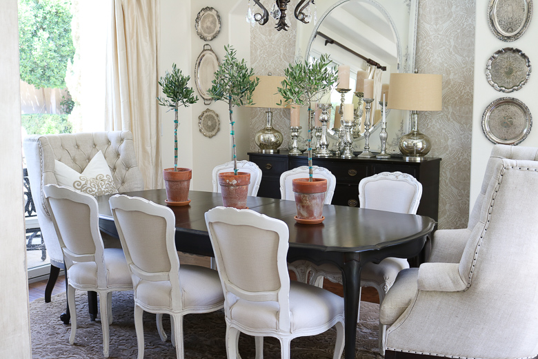 Ideas for easy summer dining room styling