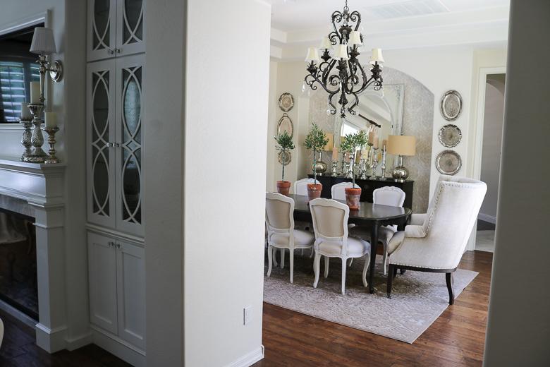 Mini olive tree in summer dining room, easy summer decor ideas