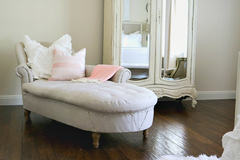Romantic Master Bedroom with pops of pink