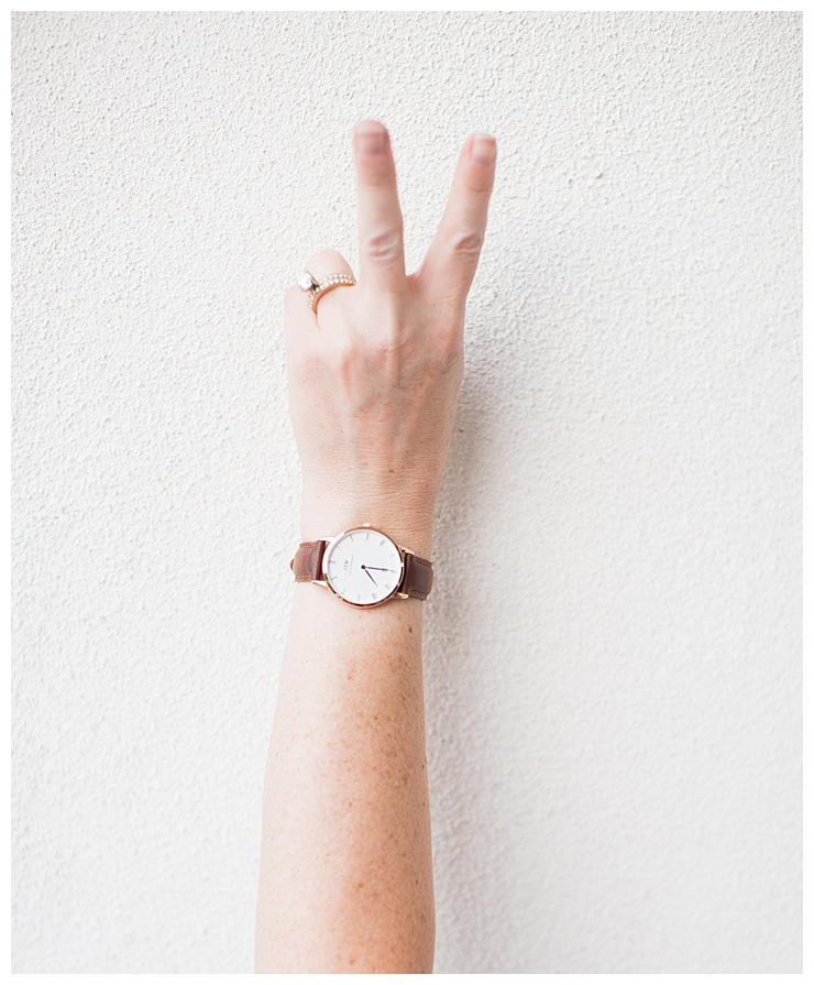 How to style Daniel Wellington Dapper watch by Randi Garrett Design