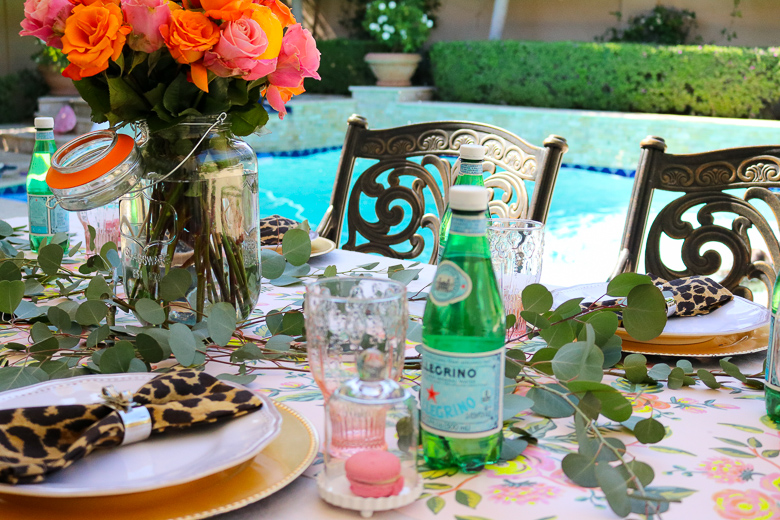 summer patio party tablescape