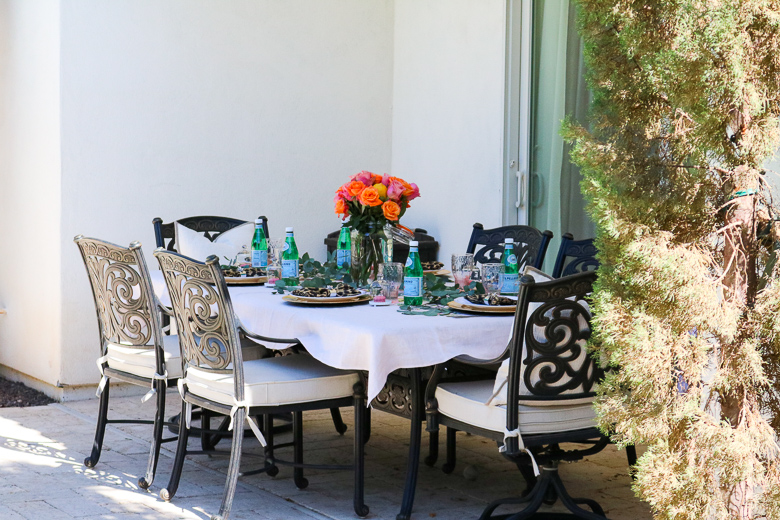 Summer patio tablescape