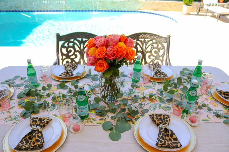 Summer patio tablescape