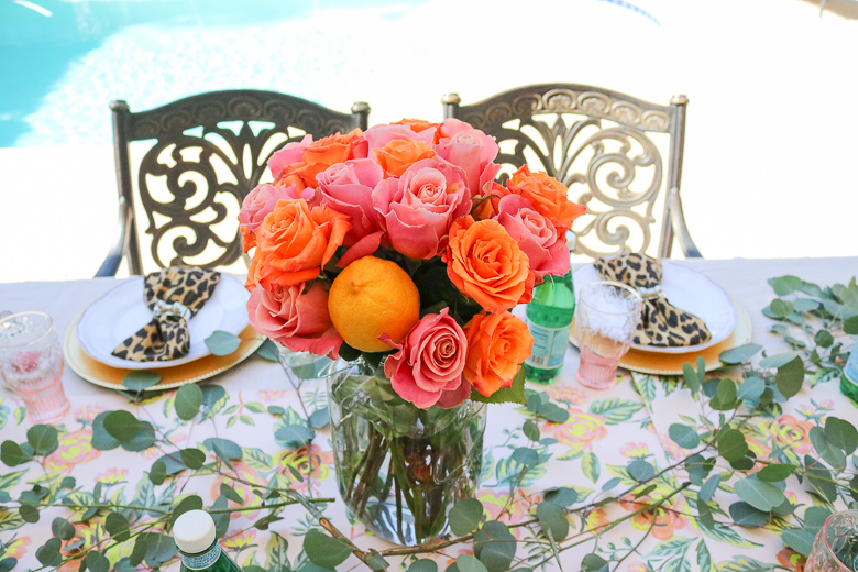 summer patio party centerpiece