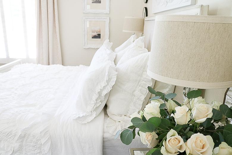 White master bedroom by Randi Garrett Design