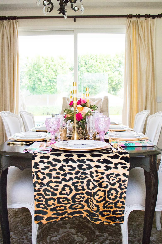 Leopard table runner by Randi Garrett Design