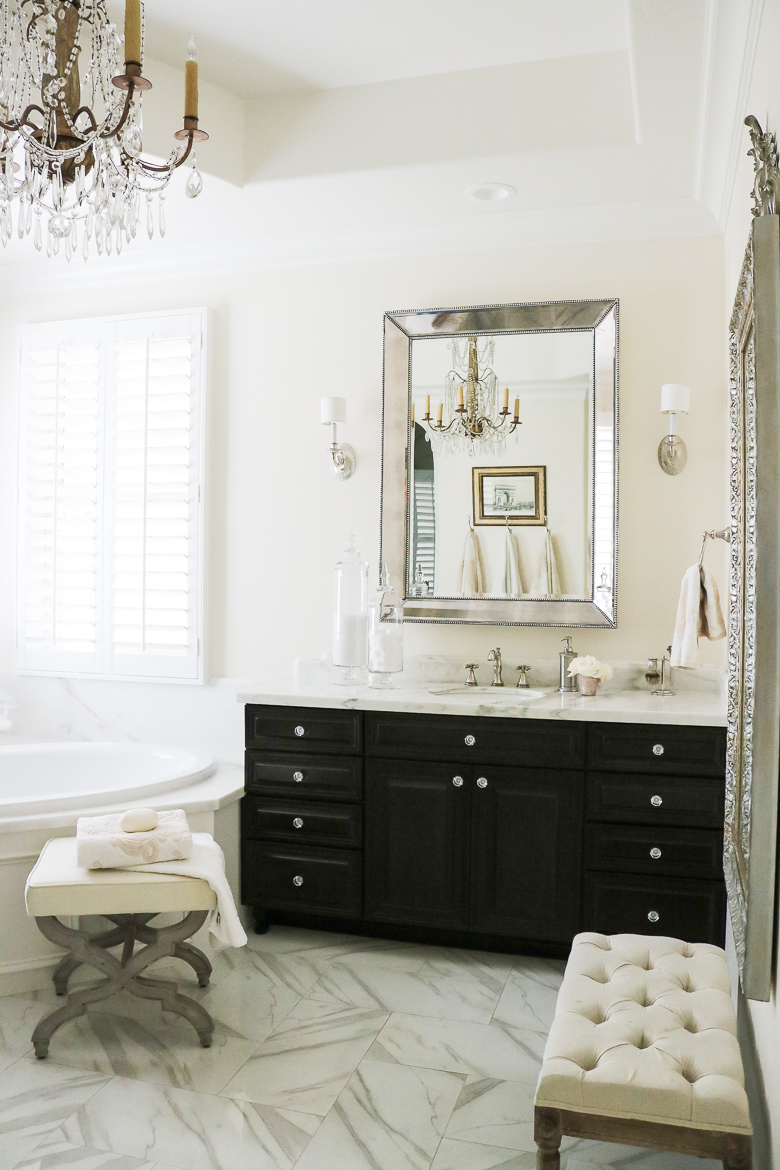 Elegant Master Bathroom Remodel His Side