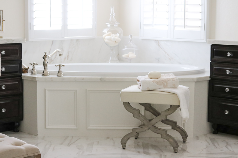 Elegant Master Bathroom Remodel- bathtub