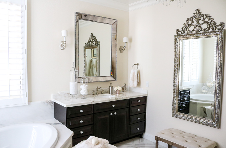 Elegant Master Bathroom Remodel- full length mirror