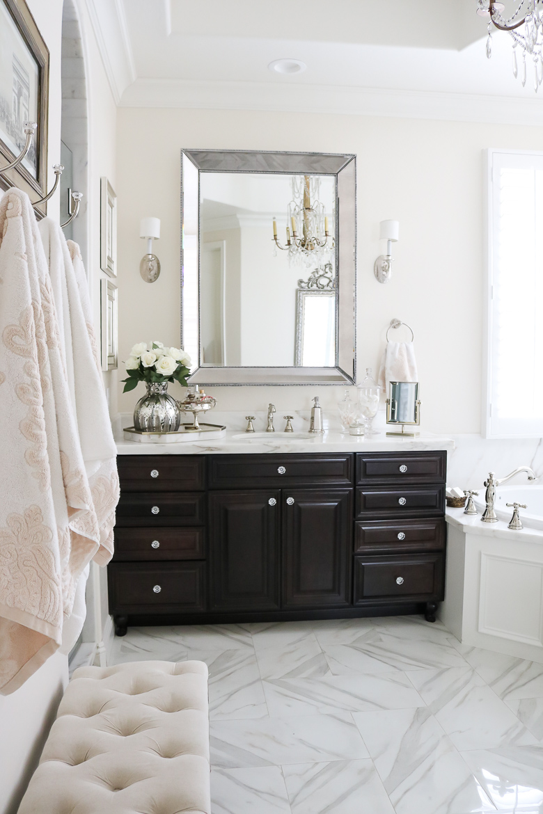 Elegant master bathrooms - Elegant Master Bathroom Remodel Her Sink