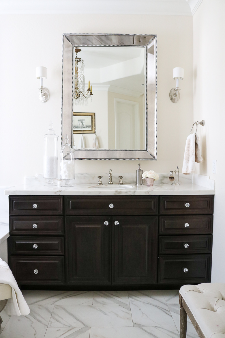 Elegant Master Bathroom Remodel-how to accessorize in the bathroom