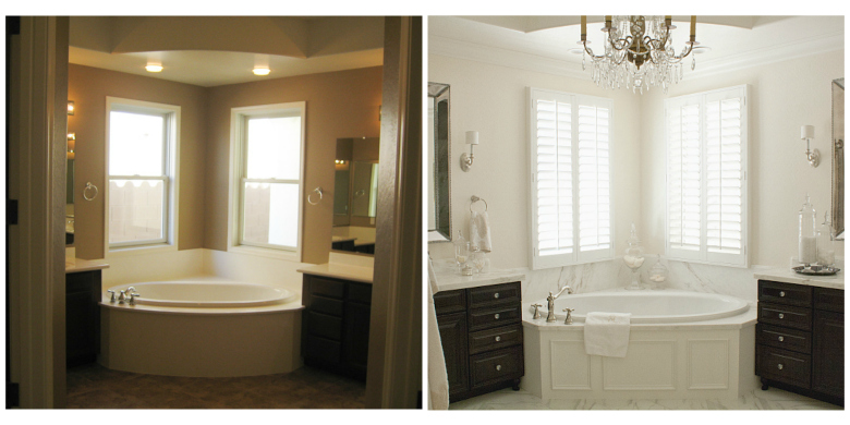 elegant master bathroom before and after - Bathroom Cabinets Before And After