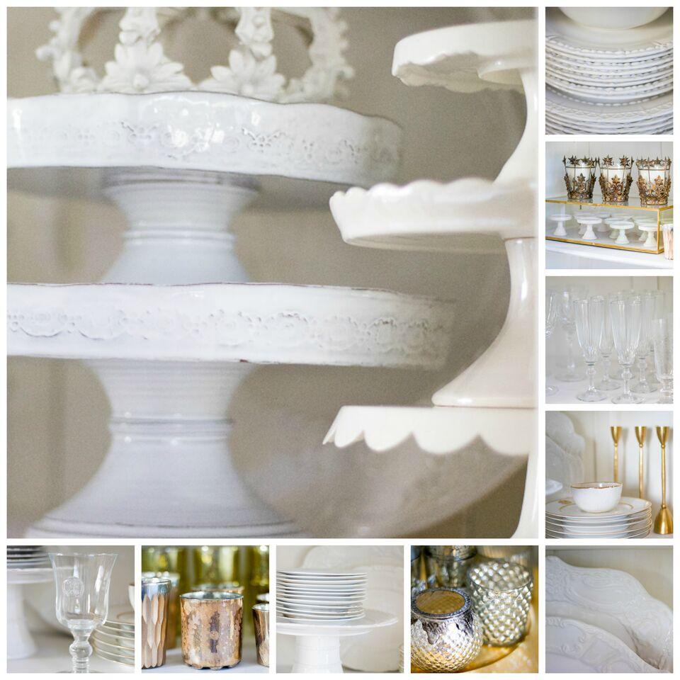 Elegant dining room details