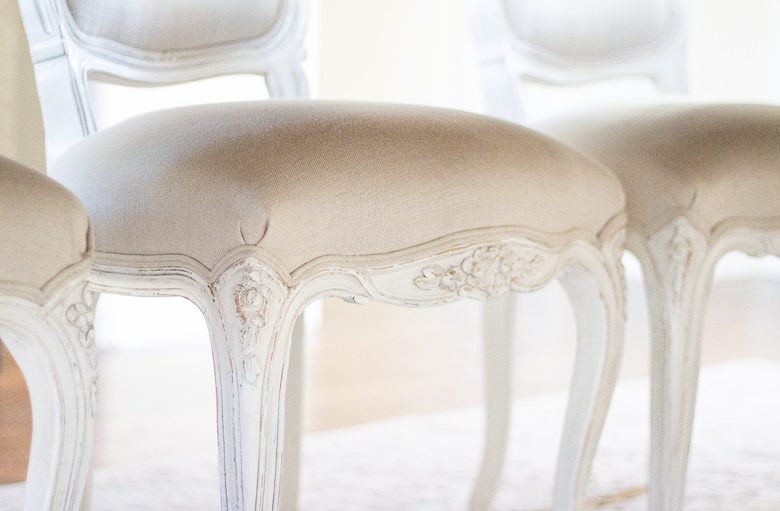 Elegant french dining chairs