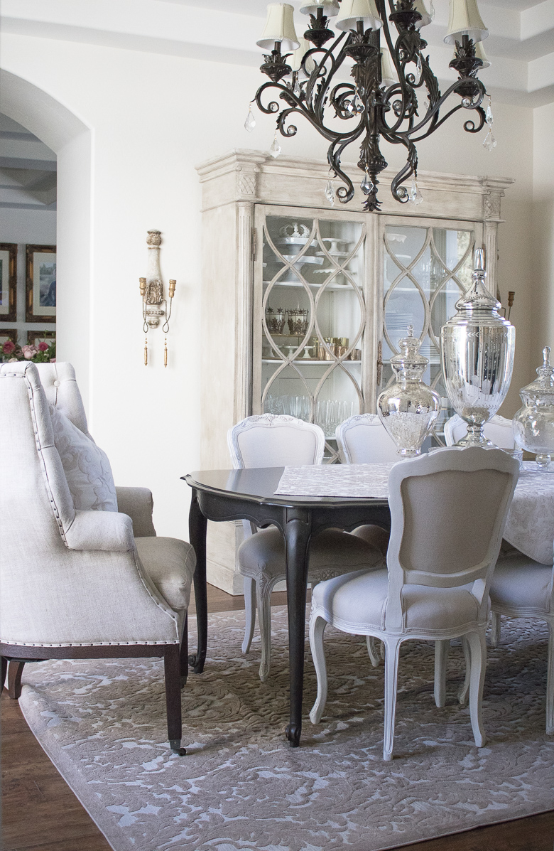 French Style China Cabinet. Gabby Furniture China Cabinet In Elegant Dining  Room