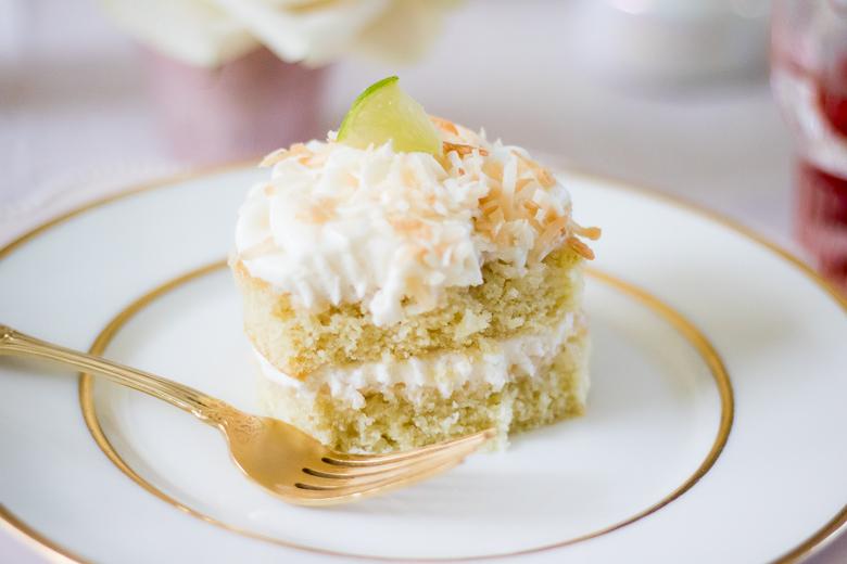 Mini Coconut Lime Cakes