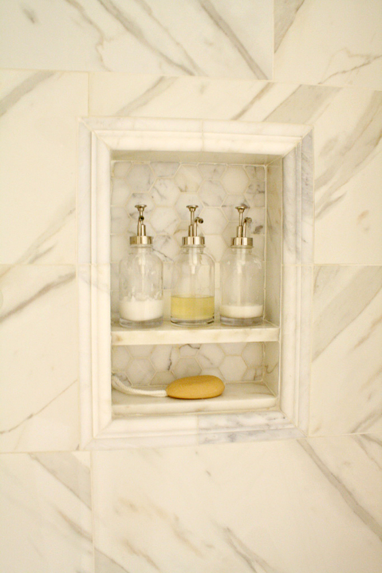 Shampoo Shelf Master Bathroom