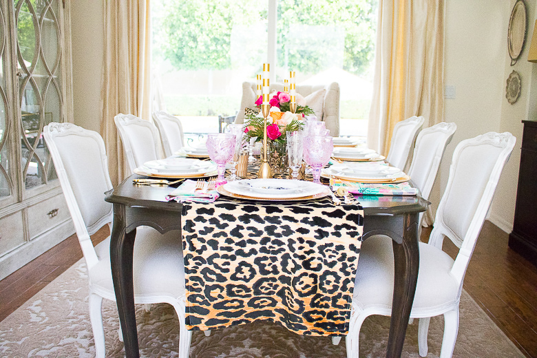 how to make a leopard table runner by randi garrett design. Black Bedroom Furniture Sets. Home Design Ideas