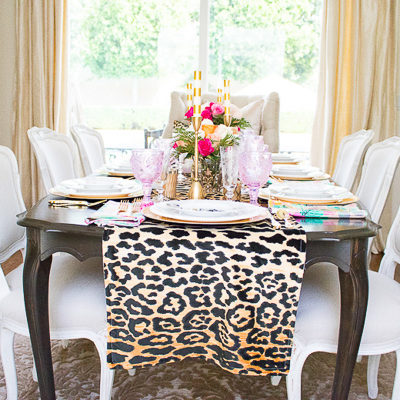How to Make a Leopard Table Runner