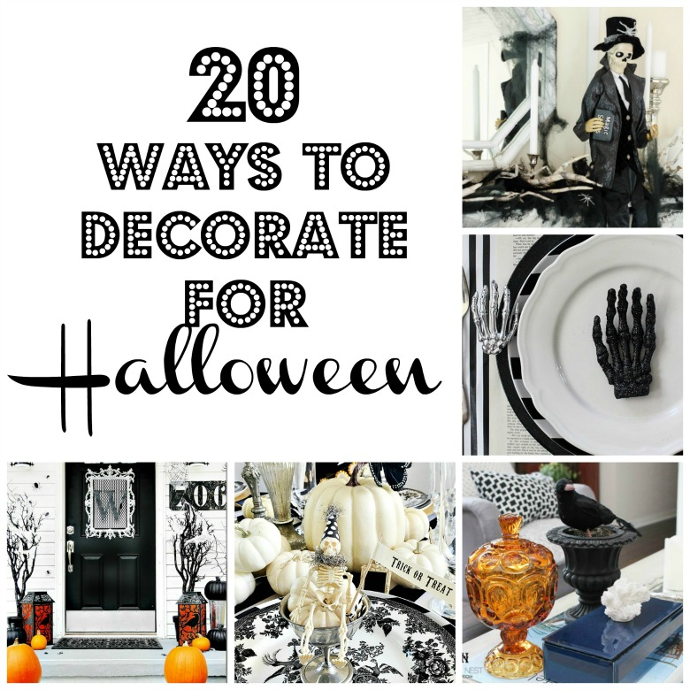 20 ways to decorate for halloween halloween home tour for Ways to decorate your house for halloween